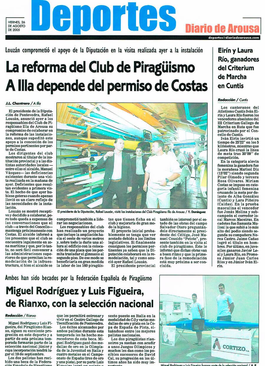 Prensa La reforma del Club de Piragüismo A Illa depende del permiso de Costas
