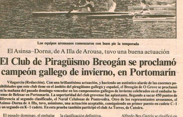 El Club de Piragüismo Breogán se proclamó campeón gallego de invierno, en Portomarín