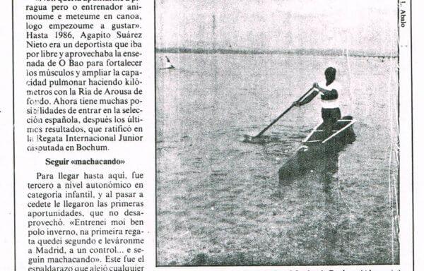 Agapito Suárez, un canoísta internacional que sueña con la olimpiada de Barcelona
