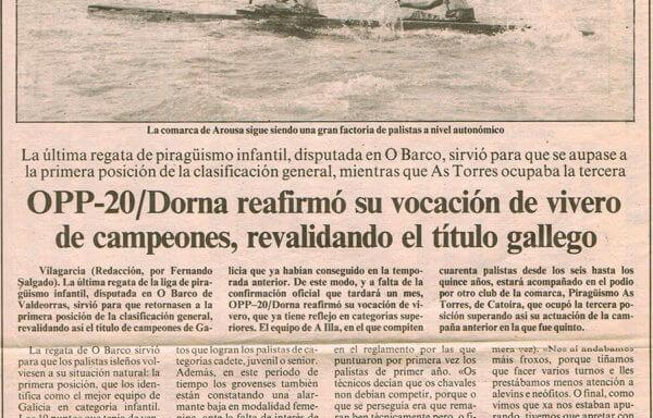 OPP-20/Dorna reafirmó su vocación de vivero de campeones, revalidando el título gallego