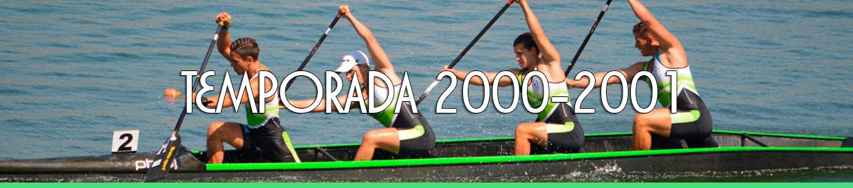Palmarés TEMPORADA 2000-2001