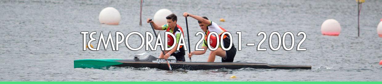 Palmarés TEMPORADA 2001-2002